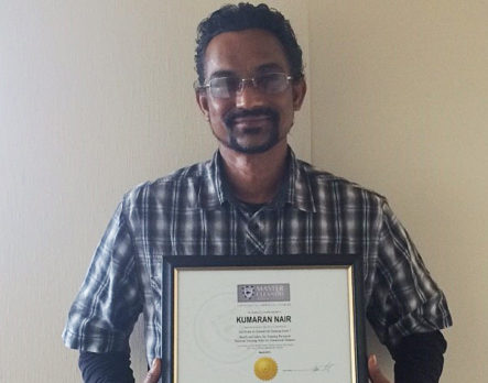 Kumaran Nair has upskilled with the Master Cleaners Training Institute.