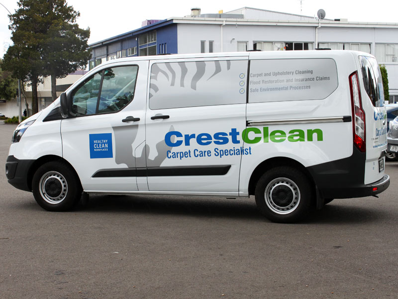 Ready to roll is CrestClean's brand new Ford Transit.