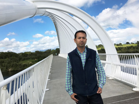 Prasun Acharya on Taranaki's iconic Rewa Rewa Bridge.