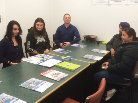 There were plenty of questions for Chris Barker, Crest's National Sales and Relocation Manager, at a seminar for would-be franchisees in Timaru.
