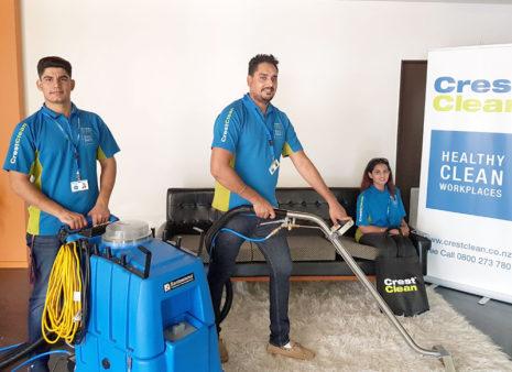 Daler Singh and Hanspreet Hari with employee Lakhwinder Singh (left).