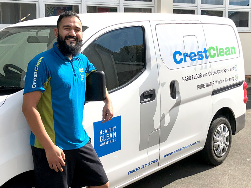 Ajay Kamboj with his Nissan NV200 that's given him room to expand his business.