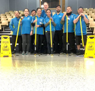 CrestClean franchisees put a shine on this floor they tackled.