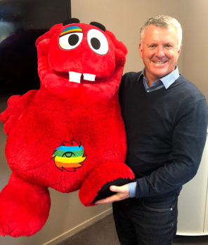 CrestClean Managing Director Grant McLauchlan and his new cuddly friend.