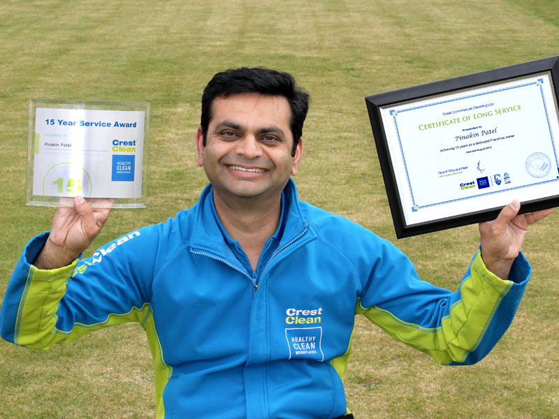 Pinakin Patel was the first franchisee in South Auckland when he started with CrestClean 15 years ago.