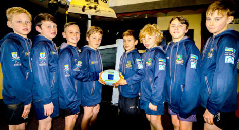 Winning smiles from the CrestClean-sponsored Metro Blue rugby team who won a major tournament.