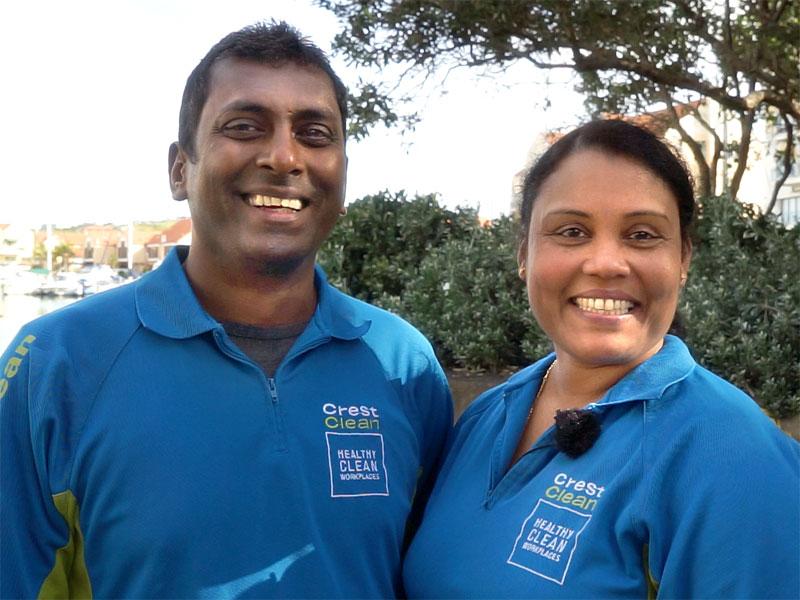 Naresh Mani with his wife Radhna.