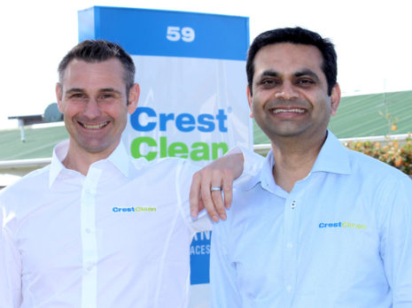Pinakin Patel (right) with Jan Lichtwark, Tauranga Regional Manager.