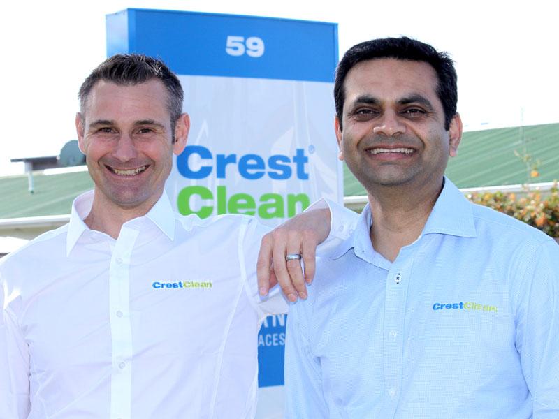 Pinakin Patel (right) with Jan Lichtwark, Tauranga Regional Manager.