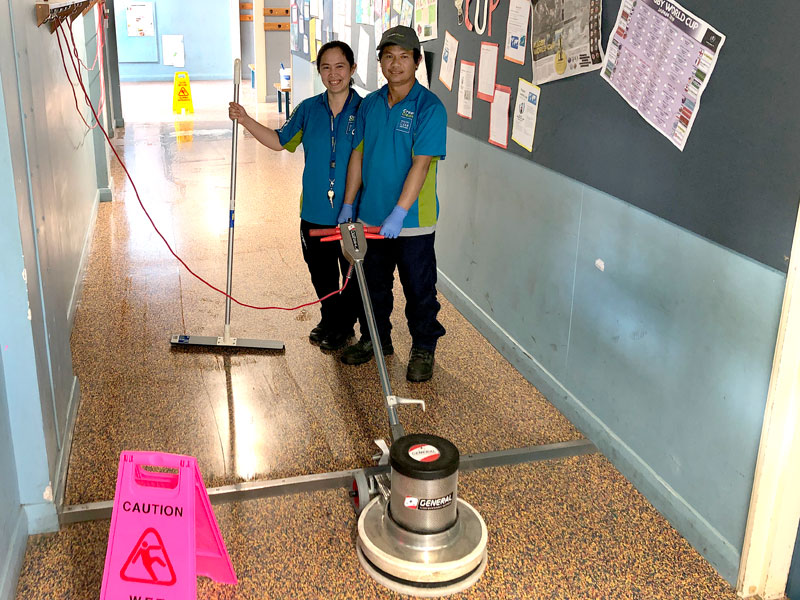 Joy and Nilo Pombo doing a great job at Ashburton Intermediate School.