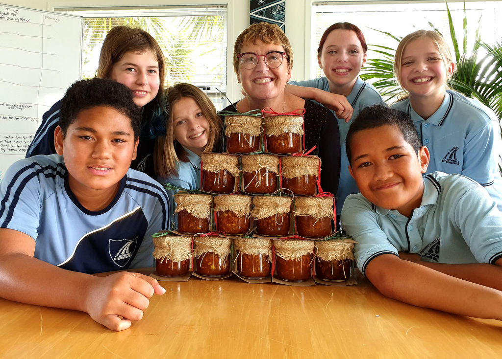 Marmalade jars were presented in packaging designed by the Avondale students.