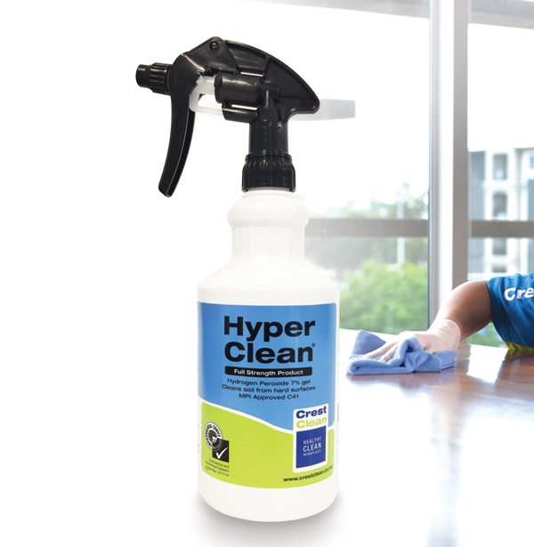 HyperClean is licensed by Environmental Choice New Zealand, the country's official ecolabelling programme.