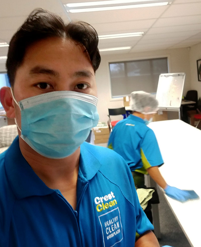 The sight of your cleaning provider turning up in personal protective equipment, like a mask, can only be a good thing.