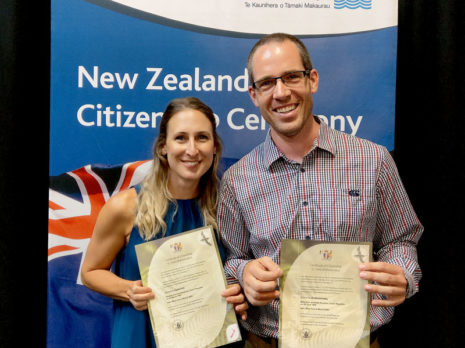 Barbora Opavova and Dominik Drahoninsky have become New Zealand Citizens.