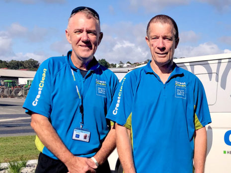 Edward Irving and Kelvin Walker pitched in to help after a local school was vandalised.