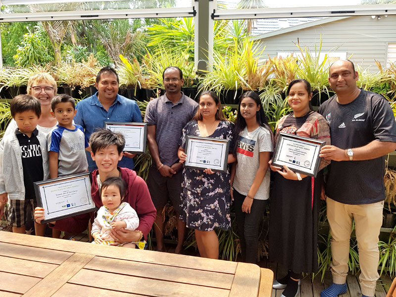 It was a time for celebration when CrestClean's Auckland West Regional Manager Caroline Wedding put on a morning tea for business owners and their families.