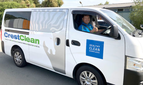 Angelo Dayrit proudly shows off his spacious Nissan NV350.