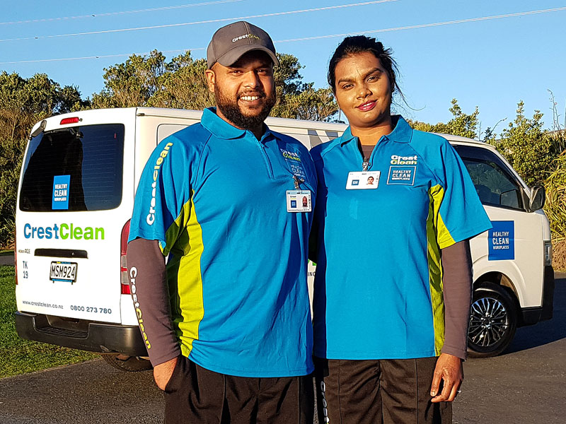 Karthik and Jashma Naidu purchased a spacious Toyota Hiace when they started with CrestClean. It means they will have plenty of room for equipment when they expand their business.
