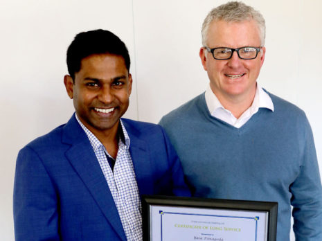 Yasa Panagoda CrestClean Christchurch North receives award