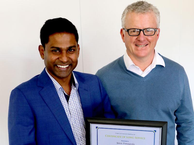 Yasa Panagoda CrestClean Christchurch North receives award