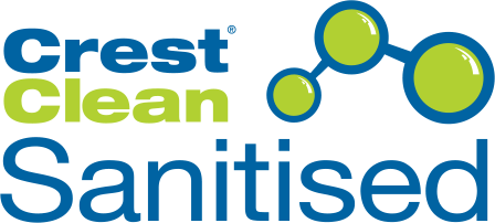 CrestClean Sanitised Logo