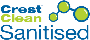 CrestClean Sanitised Logo