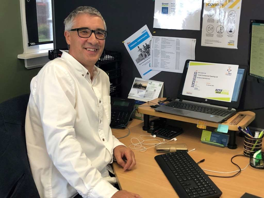 CrestClean Health, Safety and Wellbeing Leader Ian Noon