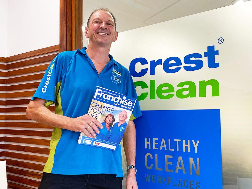 Cleaner holding magazine.