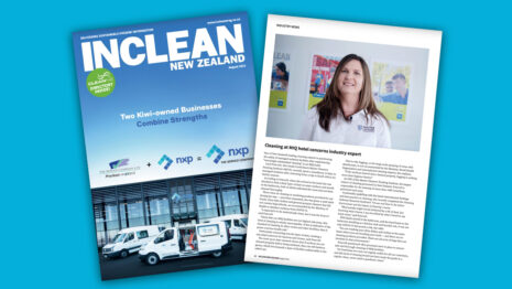 Pages of cleaning magazine.
